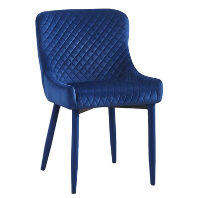 Diantha Upholstered Dining Chair Upholstery Color: Navy