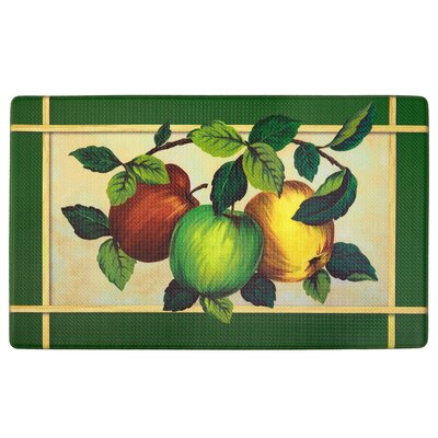 Filler Apple Orchard Printed Anti-Fatigue Floor Kitchen Mat