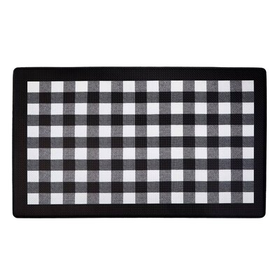Fillion Buffalo Check Printed Anti-Fatigue Floor Kitchen Mat Color: Black/Gray