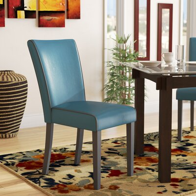 Blaylock Parsons Chair (Set of 2) Finish: Blue