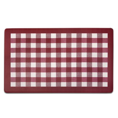 Fillion Buffalo Check Printed Anti-Fatigue Floor Kitchen Mat Color: Red/White