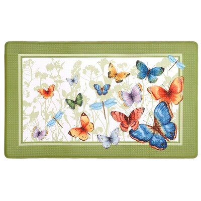 Filson Butterflies Printed Anti-Fatigue Floor Kitchen Mat
