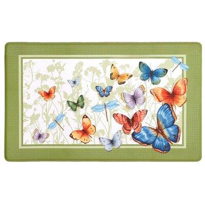 Filson Butterflies Printed Anti-Fatigue Floor Kitchen Mat