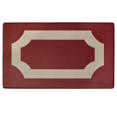 Faulk Printed Anti-Fatigue Floor Kitchen Mat Color: Red/Gold