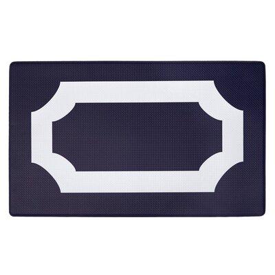 Faulk Printed Anti-Fatigue Floor Kitchen Mat Color: Purple/White