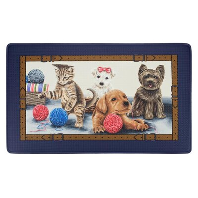 Killam Precious Pets Puppies Kittens Printed Anti-Fatigue Kitchen Mat