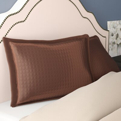 Westchester Quilt Sham Color: Coffee Circle, Size: Standard