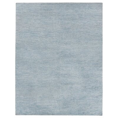 Perry Hand-Knotted Gray/Black Area Rug Rug Size: Rectangle 8 x 10