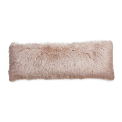 Hartt Mongolian Faux Fur Throw Pillow Color: Rose Smoke