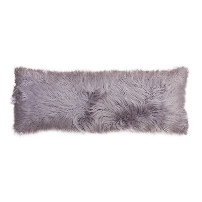 Hartt Mongolian Faux Fur Throw Pillow Color: Nirvana