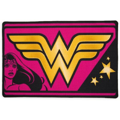 DC Comics Wonder Woman Soft Pink/Yellow Area Rug