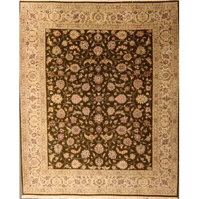 Drewett One-of-a-Kind Chinese Hand-Knotted Wool Brown Area Rug