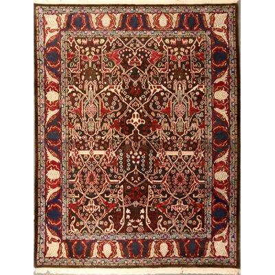 Odea One-of-a-Kind Indian Transitional Hand-Knotted Wool Red/Gold Area Rug