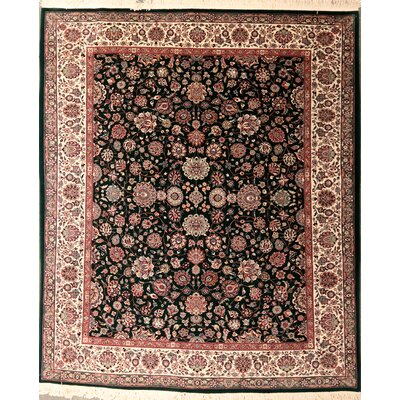 Drewes One-of-a-Kind Varamin Hand-Knotted Wool Black Area Rug