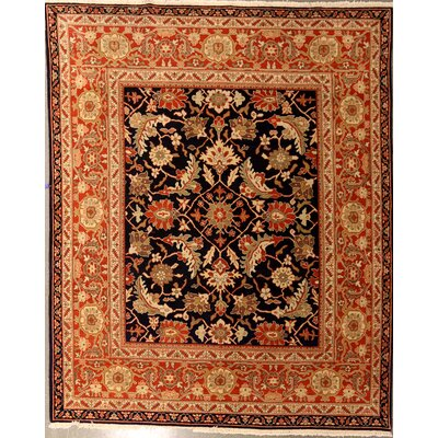 Puryear One-of-a-Kind Chinese Persian Mahal Hand-Knotted Wool Yellow/Black Area Rug