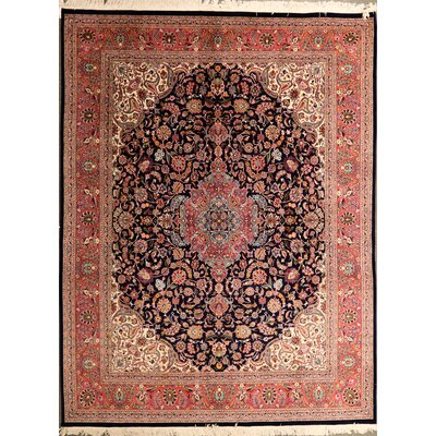 Putman One-of-a-Kind Chinese Persian Recreation Hand-Knotted Wool Brown Area Rug