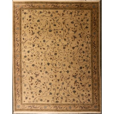 Edinburgh One-of-a-Kind Arminian Floral Hand-Knotted Wool Beige Area Rug