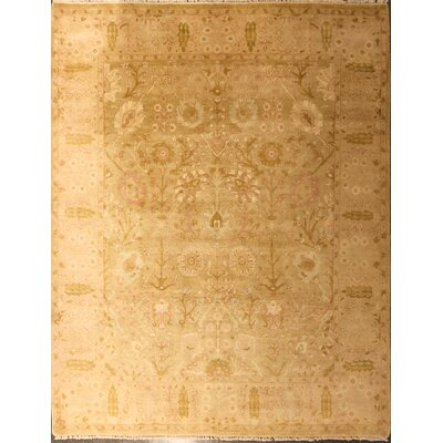 Edicott One-of-a-Kind Chinese Agra Hand-Knotted Wool Gold Area Rug