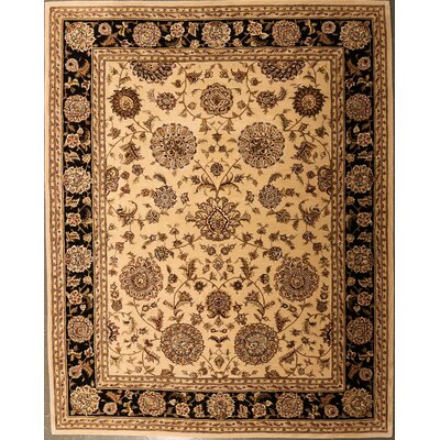 Eilean One-of-a-Kind Chinese Traditional Hand-Knotted Wool Beige Area Rug