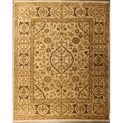Edlingham One-of-a-Kind Indian Peshwar Hand-Knotted Wool Beige Area Rug