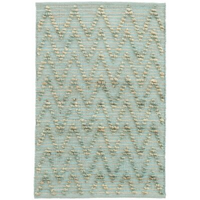 Chevron Hand-Woven Blue Area Rug Rug Size: Rectangle 8 x 10