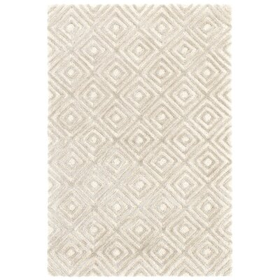 Cut Diamond Hand-Tufted Gray Area Rug Rug Size: Rectangle 3 x 5
