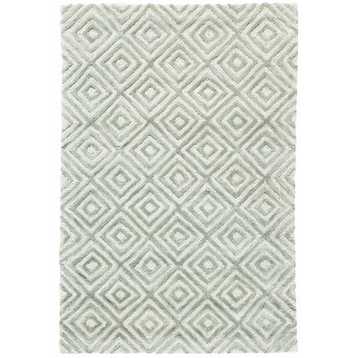 Cut Diamond Ocean Hand-Woven Gray Area Rug Rug Size: Rectangle 10 x 14