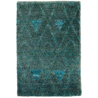 Emerald Hand-Woven Blue Area Rug Rug Size: Rectangle 3 x 5