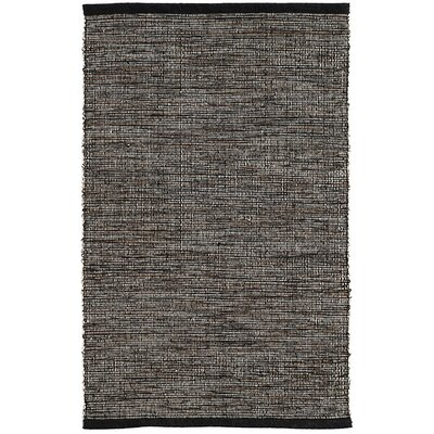 Grant Hand-Woven Black Area Rug Rug Size: Rectangle 9 x 12