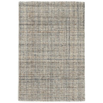 Harris Micro Hand-Hooked Wool Gray/Blue/Black Area Rug Rug Size: Runner 26 x 8
