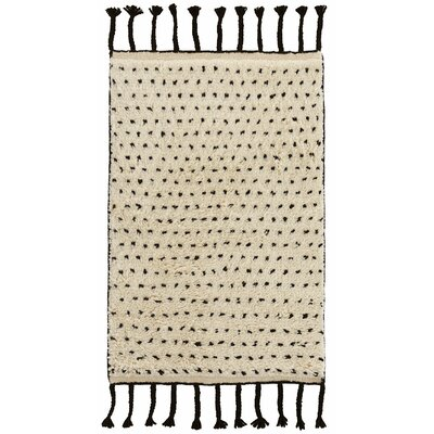 Speck Hand-Woven Black Area Rug Rug Size: Rectangle 5 x 8