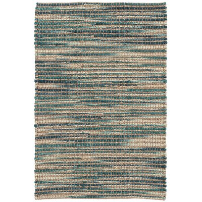Tenali Emerald Hand-Woven Green Area Rug Rug Size: Rectangle 5 x 8