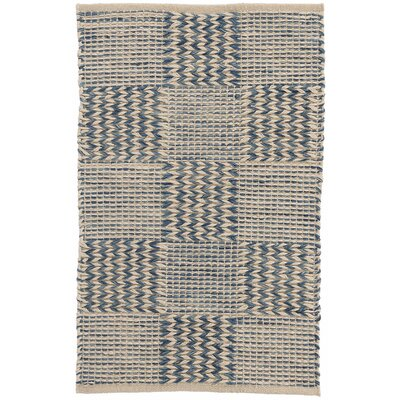 Tiles Hand-Woven Blue Area Rug Rug Size: Rectangle 2 x 3