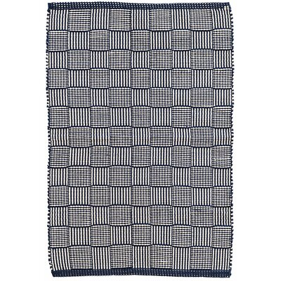 Webber Hand-Woven Blue Indoor/Outdoor Area Rug Rug Size: Rectangle 4 x 6