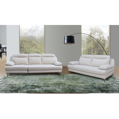 Romaine 2 Piece Living Room Set Upholstery: Creamy Pearl