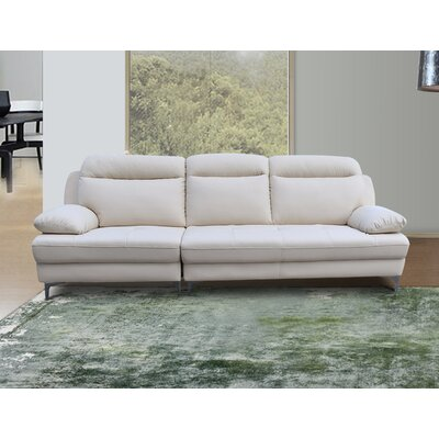 Romaine Standard Sofa Upholstery: Creamy Pearl