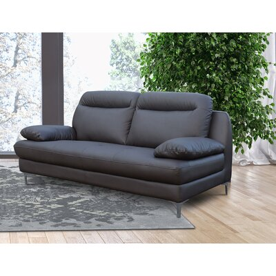 Romaine Loveseat Upholstery: Dark Brown