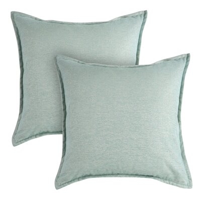 Sparkle Chenille Throw Pillow Color: Teal