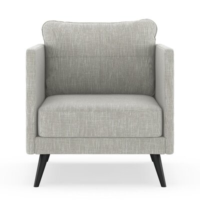 Crotts Armchair Upholstery: Cloud Gray, Finish: Black