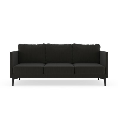 Sabanc Sofa Upholstery: Slate Gray, Finish: Black