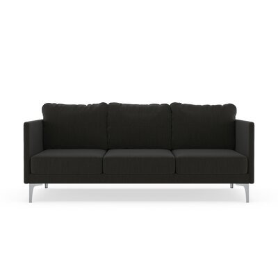 Sabanc Sofa Upholstery: Slate Gray, Finish: Brass