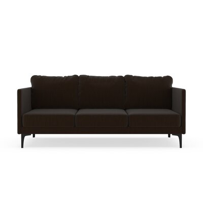 Sabanc Sofa Upholstery: Espresso, Finish: Black