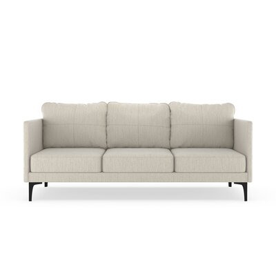 Sabanc Sofa Upholstery: Wheat, Finish: Black