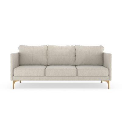 Sabanc Sofa Upholstery: Wheat, Finish: Chrome