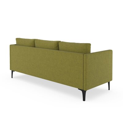 Croce Sofa Upholstery: Olive Green, Finish: Brass
