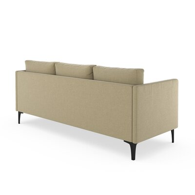 Croce Sofa Upholstery: Sand, Finish: Brass