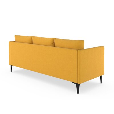 Croce Sofa Upholstery: Sunflower, Finish: Brass