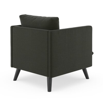 Rodgers Armchair Upholstery: Peppercorn, Finish: Black