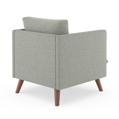 Rodgers Armchair Upholstery: Fog, Finish: Walnut