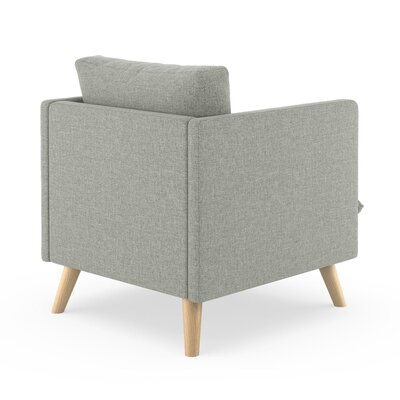 Rodgers Armchair Upholstery: Fog, Finish: Natural